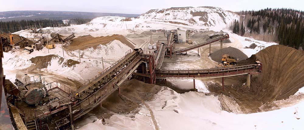 mining in snow